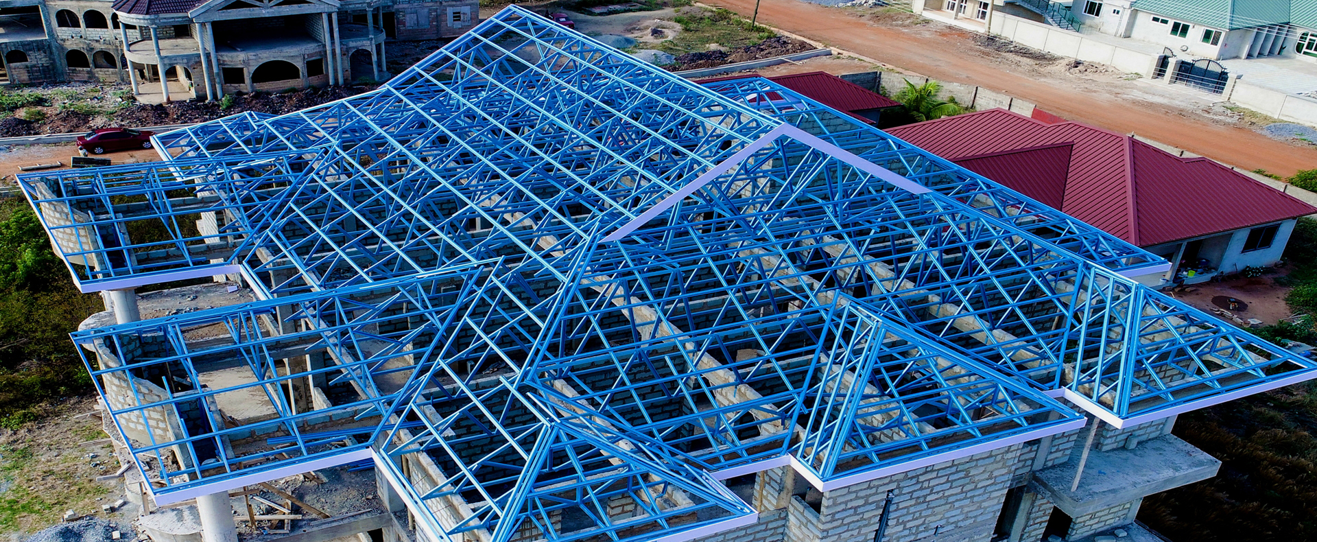 Aluminium and Steel Roofing Truss System in Ghana